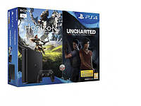 Игровая консоль SONY PlayStation 4 1TB slim + Horizon Zero Dawn + Uncharted: Zaginione Dziedzictwo