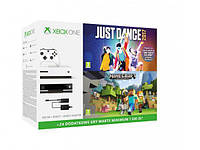 Игровая консоль MICROSOFT Xbox ONE S 500GB + kinect + adapter + minecraft + just dance