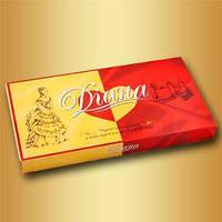 """Шоколадные конфеты """"Диана"""" 330 г. чернослив с орехом в белой глазури т м КиевГрад"""