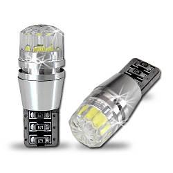 Светодиодная YELLOW (желтая) автолампа T10 2W Epistar Chip, Crystal lens Canbus