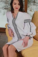 """Женское вышитое платье  """"ДУМКА"""" размера  42 до 52  в адвентическом  стиле с вышивкой  ,   купить , фото 1"""