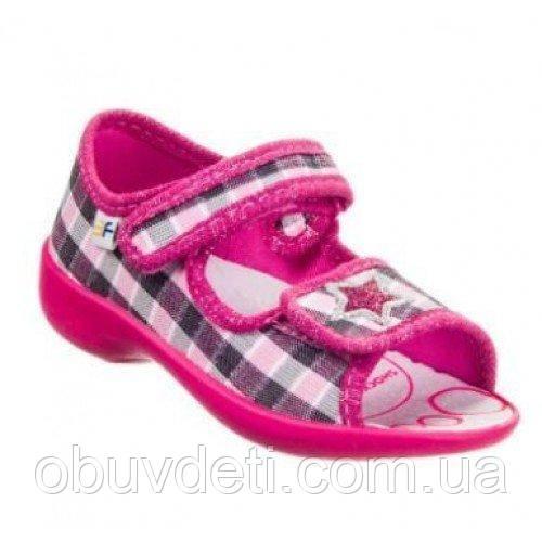 Рожеві сандалі для дівчаток 3f Польща 24 - устілка 15,0 см
