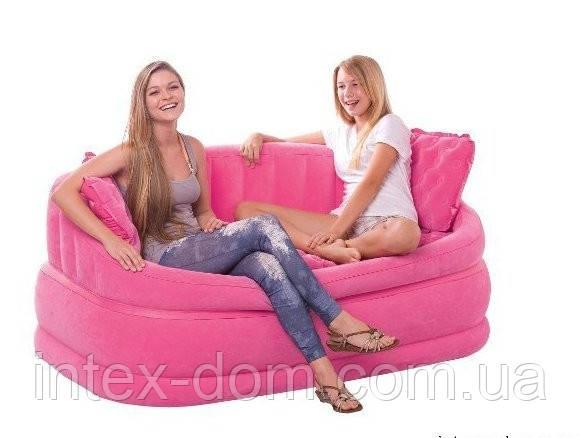 Надувной диван Intex 68573P (Розовый)  интекс( 157 х 86 х 69 см.) киев