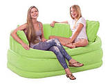 Надувной диван Intex 68573G (Зеленый)  интекс( 157 х 86 х 69 см.) киев, фото 2