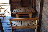 Набор деревянной мебели 1 ( стол, две лавки )