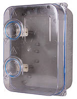 Шкаф пластиковый e.mbox.stand.plastic.n.f3.прозр. под трёхфазный счетчик, навесной, с комплектом метизов