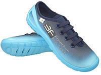 Голубые детские кеды 3f 33 (21см), фото 1