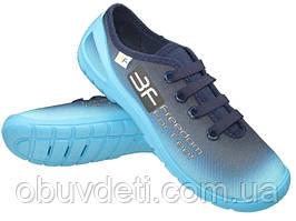 Голубые детские кеды 3f 32 (20.5см)