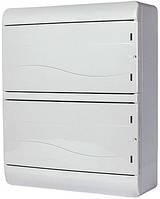 Корпус пластиковый навесной (NT) 26-модульный, двухрядный, IP 55 c непрозрачной дверкой, фото 1