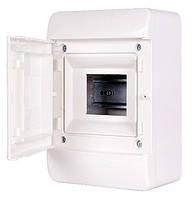 Корпус пластиковый навесной (NT) 5--модульный, однорядный,  IP 40, с непрозрачной дверкой, фото 1