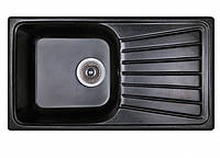 Черная мойка из искусственного гранита 81 см Fosto SGA-420
