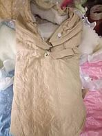 Конверт-плед на выписку из роддома на меху для новорожденных