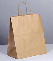 Крафт пакет с витыми ручками 350/330/160мм