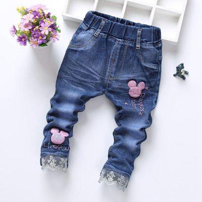 Детские джинсы розовый микки