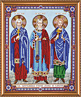 Набор для вышивания бисером АВ-422 Святые мученики Гурий, Авив и Самон (холст)