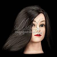 Учебная голова 30% натуральных волос, длина 65 см + ПОДАРОК ОТ МАГИИ КРАСОТЫ