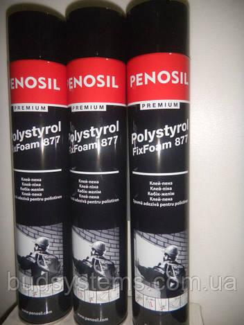 Пена-клей для плит XPS Penosil Premium Polystyrol FixFoam 877 А3569 (ручная), 750 мл