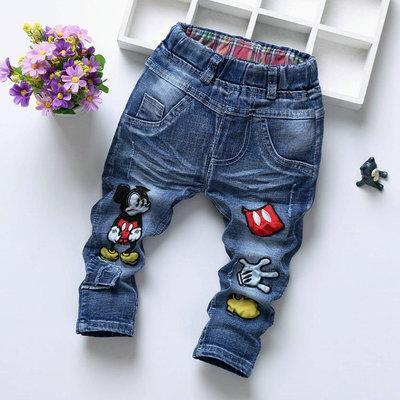 Детские джинсы микки в полный рост