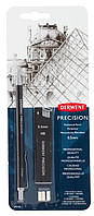 Карандаш механический Derwent Precision 0.5 мм + НВ  15 шт + ластик 3 шт