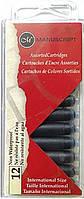 Набор картриджей с чернилами для перьевой ручки, 5 цветов, 12шт, Manuscript