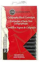 Набор картриджей с чернилами для перьевой ручки, черный, 30шт, Manuscript
