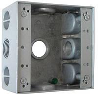 "Коробка монтажная  металлическая e.industrial.pipe.db.thread.5.х.3/4"" с 5 резьбовыми входами 3/4"", фото 1"
