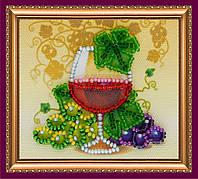 """Набор-магнит для вышивания бисером АМА-029 """"Бокал вина"""" (холст)"""