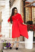 Женское платье миди  БАТАЛ