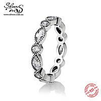 """Серебряное кольцо Пандора (Pandora) """"Блистательная маркиза"""""""