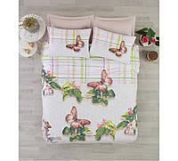 Постельное белье Cotton box Ранфорс Floral Seri BRENDA YESIL Евро