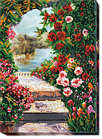 "Набор для вышивания бисером АВ-482 ""Летний сад"" (холст)"