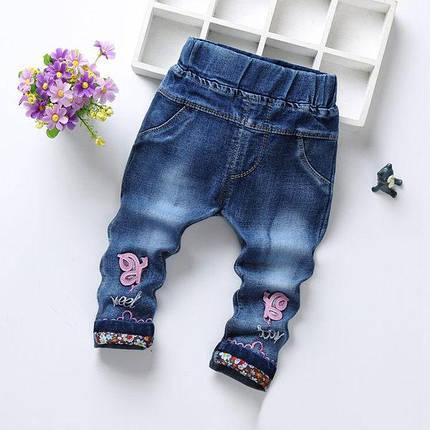 Джинсы детские розовая завитушка, фото 2