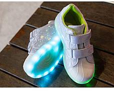 LEd кроссовки Superstar на липучках хамелеон светлые 5120-2, фото 2