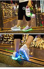 LEd кроссовки Superstar на липучках хамелеон светлые 5120-2, фото 3