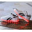 LEd кроссовки белые с черными полосками на шнурках 5121-1, фото 2