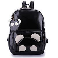 Рюкзак панда с брелком черный