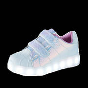 LEd кроссовки Superstar на липучках хамелеон розовые 5120-1