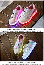 LEd кроссовки Superstar на липучках хамелеон розовые 5120-1, фото 2