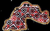 """Набор-магнит для вышивания бисером АМК-004 Карта Украины """"Днепропетровская область"""" (холст)"""
