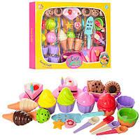 Продукты 22506 (24шт) сладости, посуда (тарелки,ложки,лопатка), в кор-ке, 49-36-6см