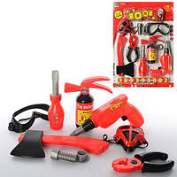 Набор инструментов 738-12 (39шт) дрель, топор,отвертка.плоскогуб,очки,огнетуш,на листе, 30,5-43-4см