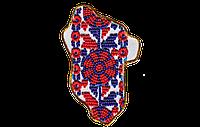 """Набор-магнит для вышивания бисером АМК-012 Карта Украины """"Луганская область"""" (холст)"""