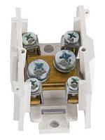 Клеммная колодка магистральная (проходимая) e.tc.main.brass.35, 1х35 мм.кв./4х6 мм.кв., латунный контакт