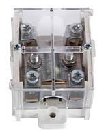 Клеммная колодка магистральная (проходимая) e.tc.main.brass.95k, 1х95 мм.кв./4х16 мм.кв..,латунный контакт, с крышкой