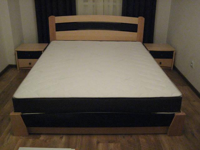 Кровать Селена Аури массив 102-106 (Натуральный бук - Венге)