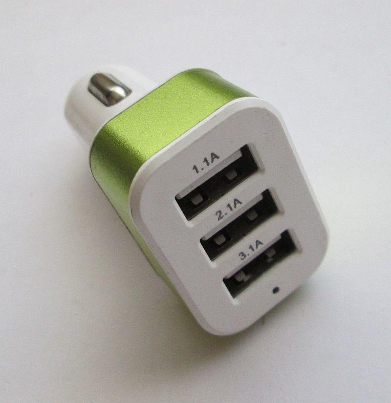 Зарядное устройство на 3 Usb порта от прикуривателя 12 В