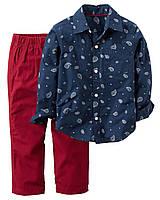 Набор штаны+рубашка Carters на мальчика 2-5 лет Graphic Tee & French Terry Pant Set
