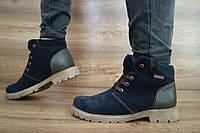 Подростковые кожаные ботинки зимние на меху