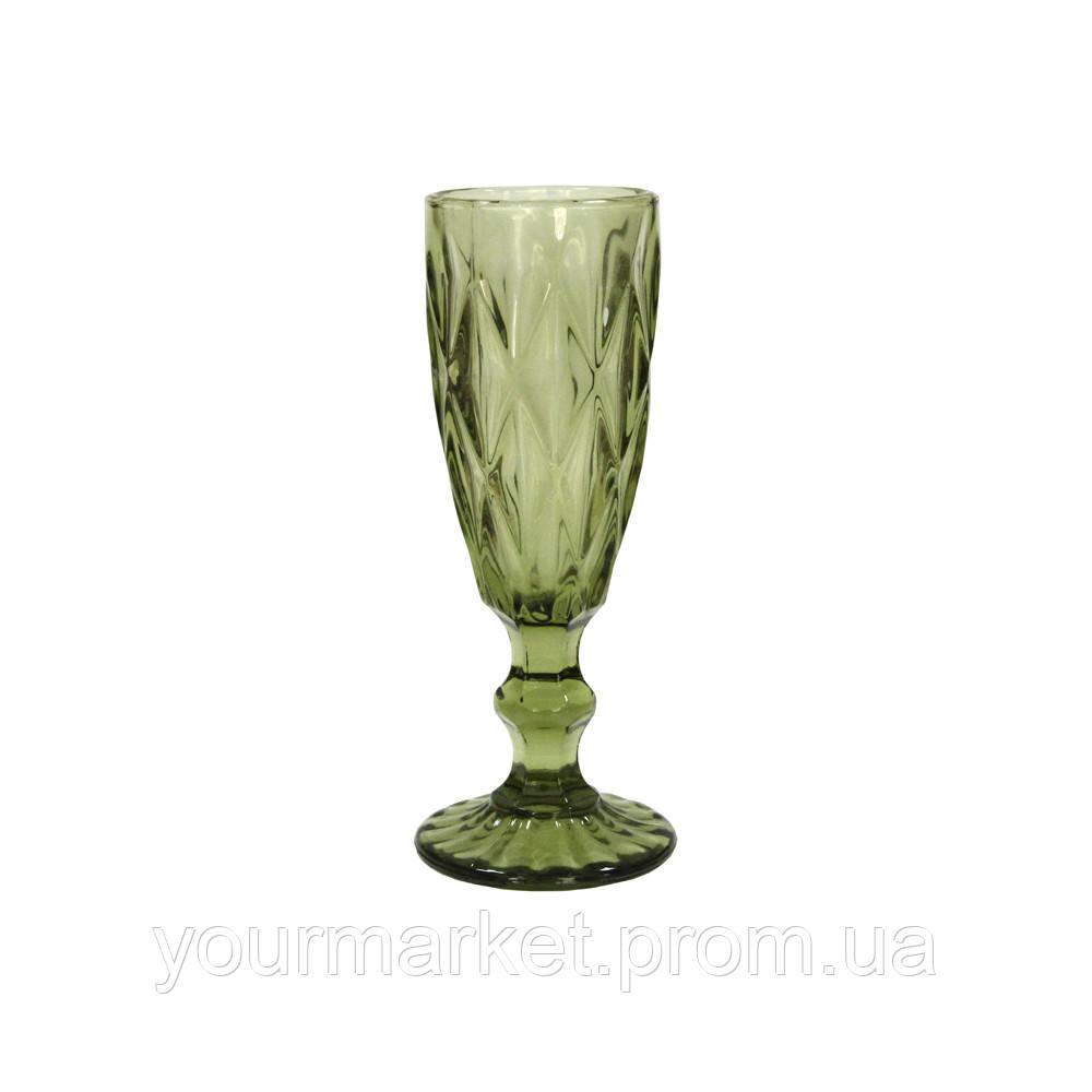 Бокал-шампанское Изумруд 180 мл зеленый, 34215-5-1