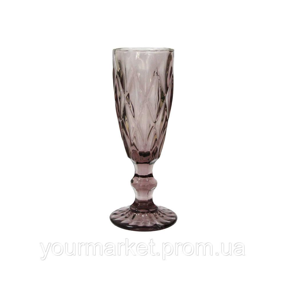 Бокал-шампанское Изумруд 180 мл розовый, 34215-5-3